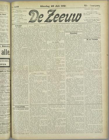 De Zeeuw. Christelijk-historisch nieuwsblad voor Zeeland 1921-07-26