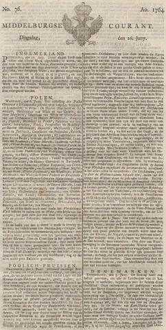 Middelburgsche Courant 1764-06-26
