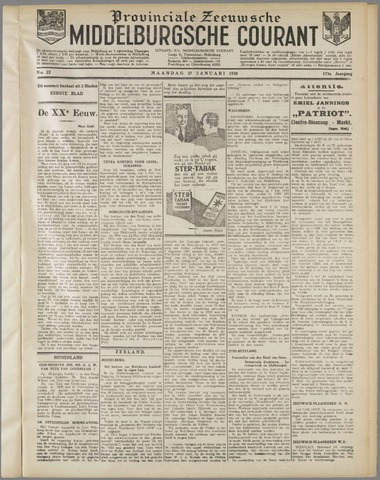 Middelburgsche Courant 1930-01-27