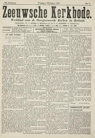 Zeeuwsche kerkbode, weekblad gewijd aan de belangen der gereformeerde kerken/ Zeeuwsch kerkblad 1918-02-08