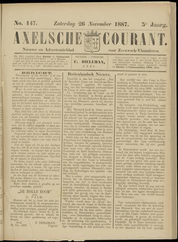 Axelsche Courant 1887-11-26