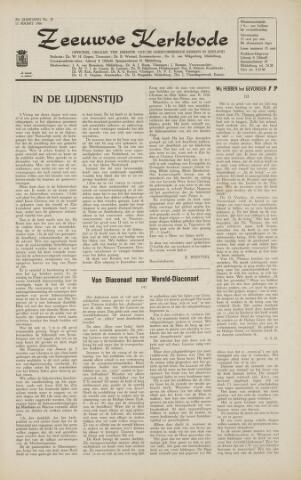 Zeeuwsche kerkbode, weekblad gewijd aan de belangen der gereformeerde kerken/ Zeeuwsch kerkblad 1966-03-11