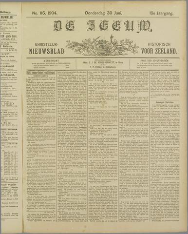 De Zeeuw. Christelijk-historisch nieuwsblad voor Zeeland 1904-06-30