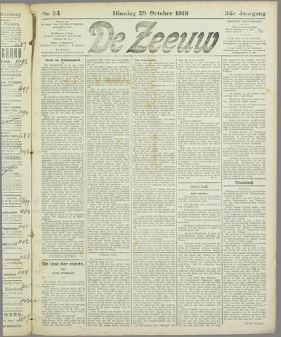 De Zeeuw. Christelijk-historisch nieuwsblad voor Zeeland 1919-10-28