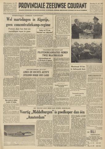 Provinciale Zeeuwse Courant 1957-07-27