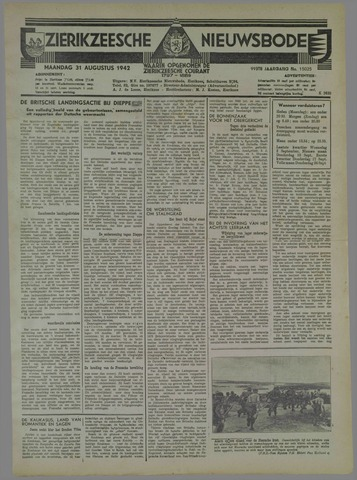 Zierikzeesche Nieuwsbode 1942-08-31