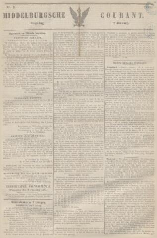 Middelburgsche Courant 1851-01-07