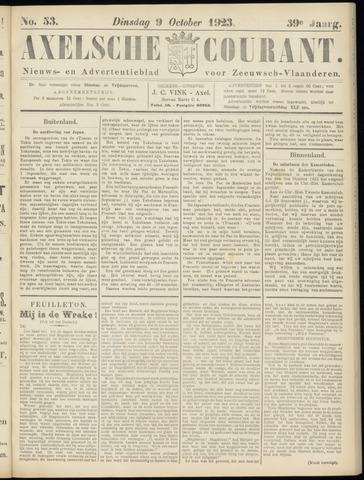 Axelsche Courant 1923-10-09