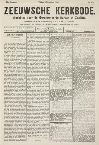 Zeeuwsche kerkbode, weekblad gewijd aan de belangen der gereformeerde kerken/ Zeeuwsch kerkblad 1925-11-06