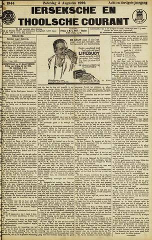Ierseksche en Thoolsche Courant 1922-08-05