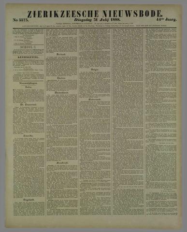 Zierikzeesche Nieuwsbode 1888-07-31
