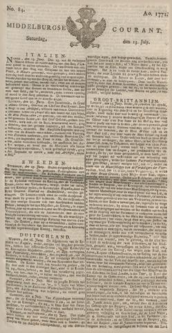 Middelburgsche Courant 1771-07-13