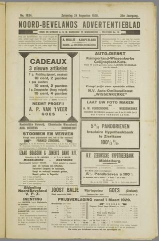Noord-Bevelands Nieuws- en advertentieblad 1929-08-24
