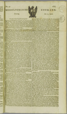 Middelburgsche Courant 1825-04-23