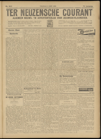 Ter Neuzensche Courant. Algemeen Nieuws- en Advertentieblad voor Zeeuwsch-Vlaanderen / Neuzensche Courant ... (idem) / (Algemeen) nieuws en advertentieblad voor Zeeuwsch-Vlaanderen 1932-05-06