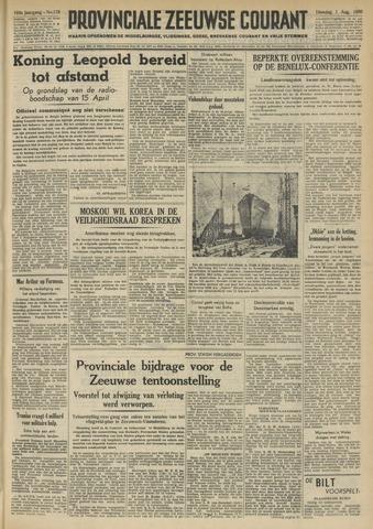 Provinciale Zeeuwse Courant 1950-08-01