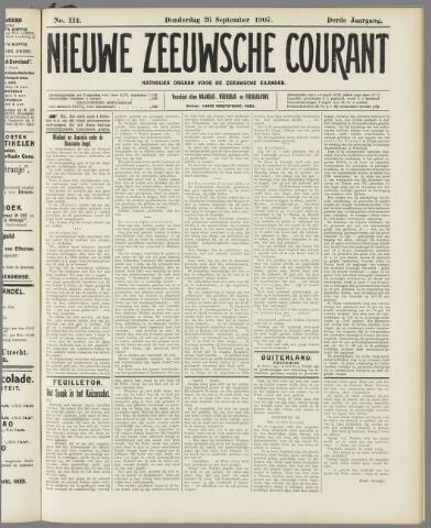 Nieuwe Zeeuwsche Courant 1907-09-26