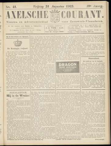 Axelsche Courant 1923-08-31