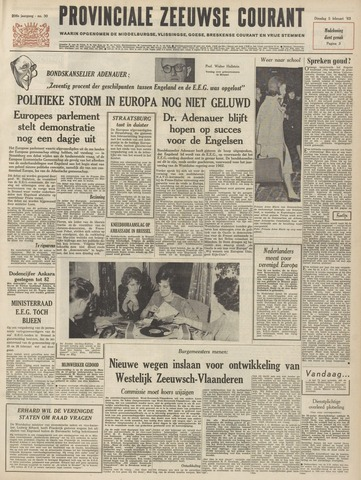 Provinciale Zeeuwse Courant 1963-02-05