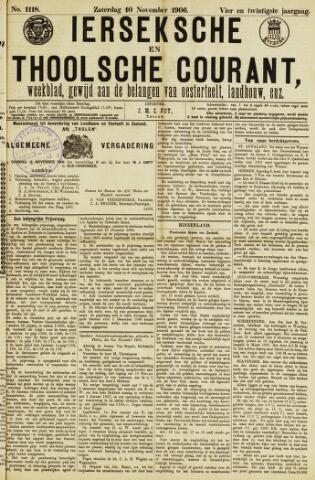 Ierseksche en Thoolsche Courant 1906-11-10