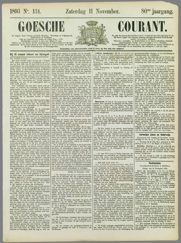 Goessche Courant 1893-11-11