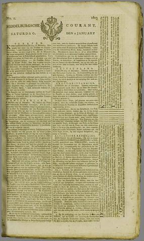 Middelburgsche Courant 1803