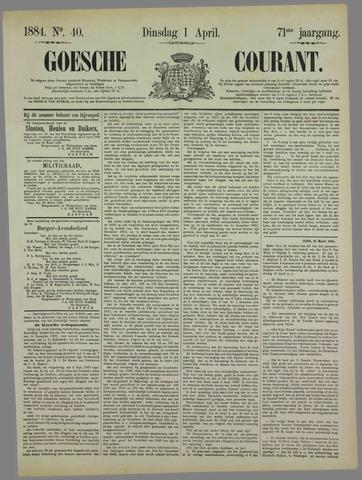 Goessche Courant 1884-04-01