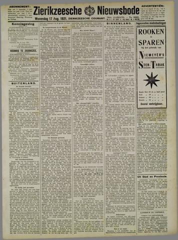 Zierikzeesche Nieuwsbode 1921-08-17