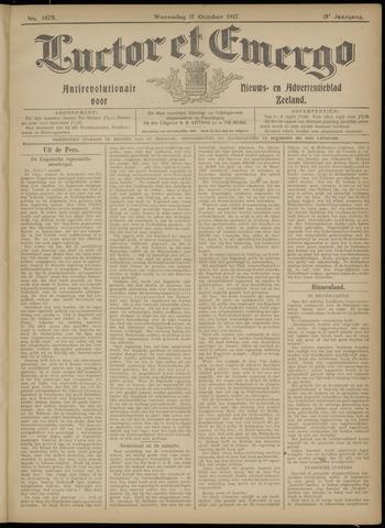 Luctor et Emergo. Antirevolutionair nieuws- en advertentieblad voor Zeeland / Zeeuwsch-Vlaanderen. Orgaan ter verspreiding van de christelijke beginselen in Zeeuwsch-Vlaanderen 1917-10-17
