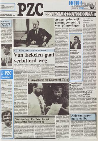 Provinciale Zeeuwse Courant 1988-09-07