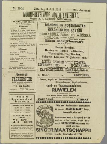 Noord-Bevelands Nieuws- en advertentieblad 1915-07-03