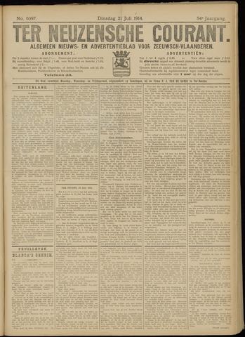 Ter Neuzensche Courant. Algemeen Nieuws- en Advertentieblad voor Zeeuwsch-Vlaanderen / Neuzensche Courant ... (idem) / (Algemeen) nieuws en advertentieblad voor Zeeuwsch-Vlaanderen 1914-07-21