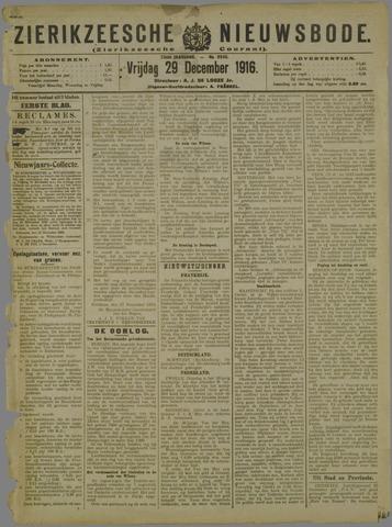 Zierikzeesche Nieuwsbode 1916-12-29
