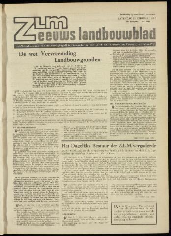 Zeeuwsch landbouwblad ... ZLM land- en tuinbouwblad 1962-02-23