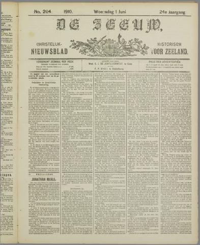 De Zeeuw. Christelijk-historisch nieuwsblad voor Zeeland 1910-06-01