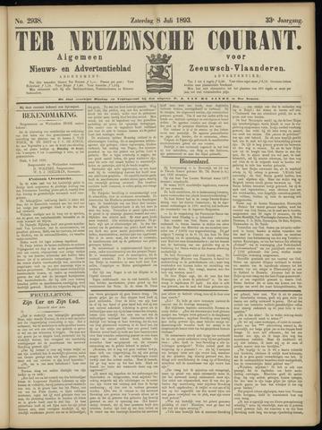 Ter Neuzensche Courant. Algemeen Nieuws- en Advertentieblad voor Zeeuwsch-Vlaanderen / Neuzensche Courant ... (idem) / (Algemeen) nieuws en advertentieblad voor Zeeuwsch-Vlaanderen 1893-07-08