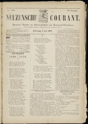 Ter Neuzensche Courant. Algemeen Nieuws- en Advertentieblad voor Zeeuwsch-Vlaanderen / Neuzensche Courant ... (idem) / (Algemeen) nieuws en advertentieblad voor Zeeuwsch-Vlaanderen 1876-06-03