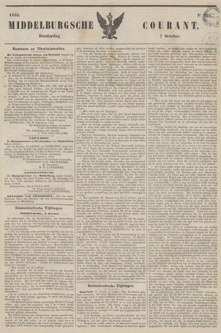 Middelburgsche Courant 1852-10-07