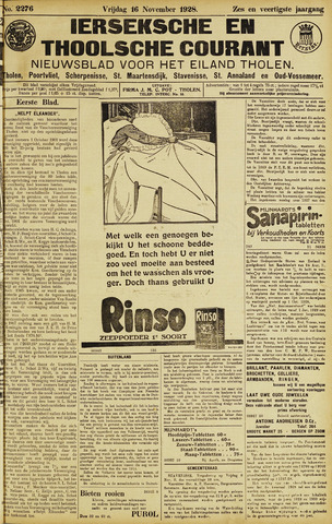 Ierseksche en Thoolsche Courant 1928-11-16