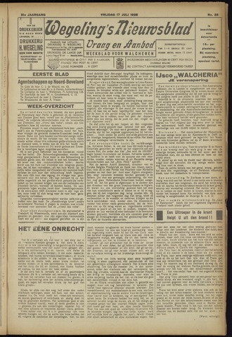 Zeeuwsch Nieuwsblad/Wegeling's Nieuwsblad 1925-07-17