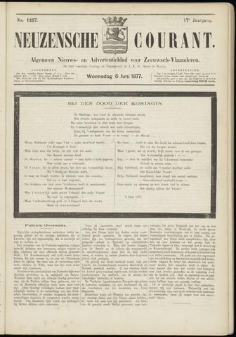 Ter Neuzensche Courant. Algemeen Nieuws- en Advertentieblad voor Zeeuwsch-Vlaanderen / Neuzensche Courant ... (idem) / (Algemeen) nieuws en advertentieblad voor Zeeuwsch-Vlaanderen 1877-06-06