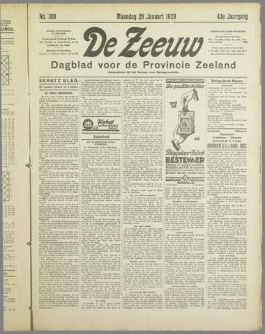 De Zeeuw. Christelijk-historisch nieuwsblad voor Zeeland 1929-01-28