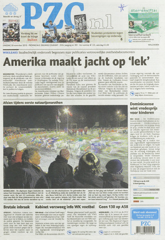 Provinciale Zeeuwse Courant 2010-11-30