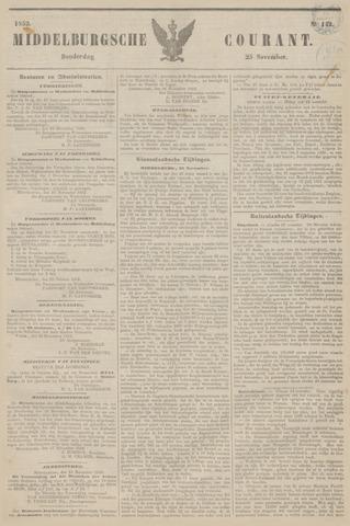 Middelburgsche Courant 1852-11-25