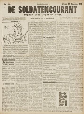 De Soldatencourant. Orgaan voor Leger en Vloot 1916-12-22