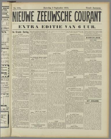 Nieuwe Zeeuwsche Courant 1914-09-05