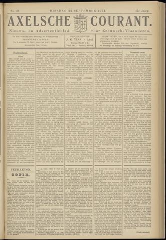 Axelsche Courant 1931-09-22