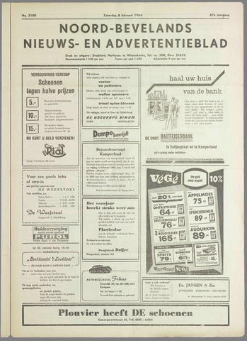 Noord-Bevelands Nieuws- en advertentieblad 1964-02-08