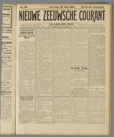 Nieuwe Zeeuwsche Courant 1917-07-21