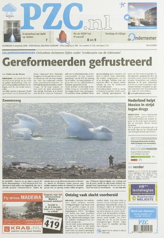 Provinciale Zeeuwse Courant 2009-11-04